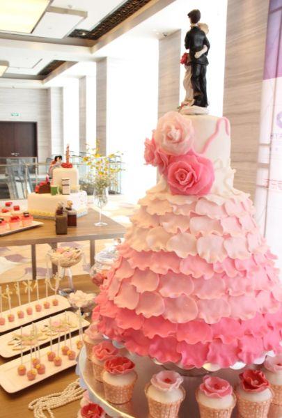 婚礼秀现场主题蛋糕