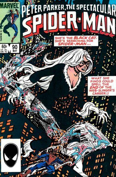 漫画中的黑猫与小蜘蛛有些暧昧