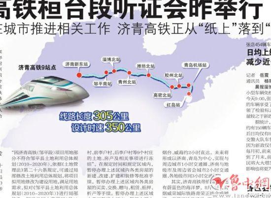 潍坊到威海动车路线图