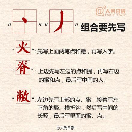 早字的笔画顺序-容易写错的汉字笔顺规则 你会写么