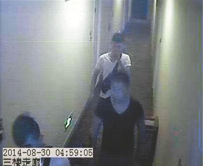 受害者到宾馆开房 视频截图