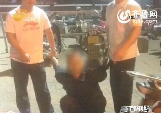 临沂的殷某正忙着结婚的时候,民警找上门来了。(视频截图)