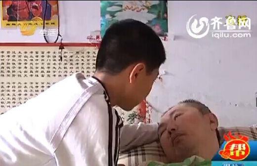 济南商河12岁的小男孩志昊,父亲遭遇车祸,变成了植物人。(视频截图)