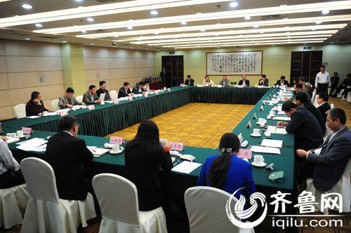 今天上午,山东省政协召开搭建鲁港两地金融合作平台为山东经济发展服务对口座谈会