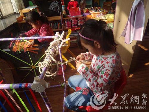 东营区实验幼儿园开展手工编织活动