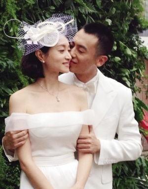 沈佳妮与朱亚文结婚照