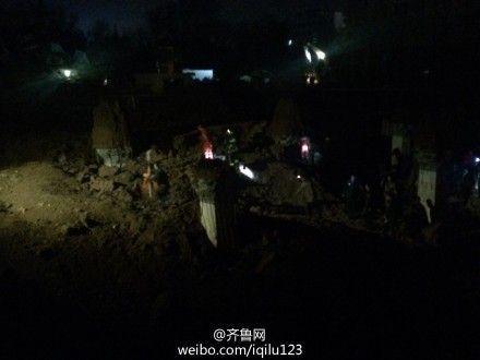 济南在建小区车库坍塌