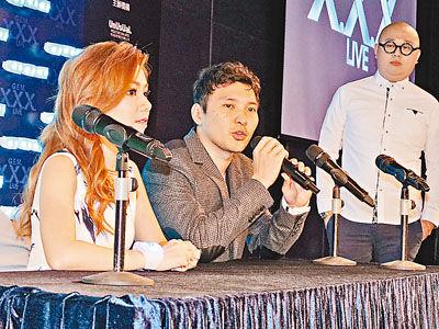 邓紫棋及经理人张丹要求传媒一次过做访问。