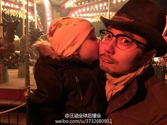 汪涵抱着别人家的小朋友