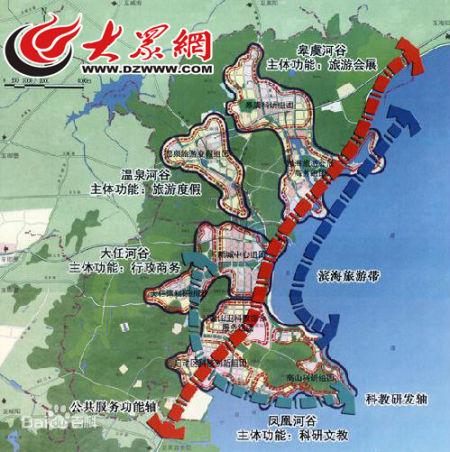 青岛蓝色硅谷区位图