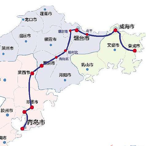 青荣城际铁路12月28日开通 运行时间车次曝光