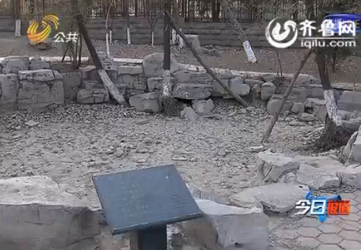 龙泉、筛子泉、龙湾泉等池水干涸,地面已经开裂(视频截图)
