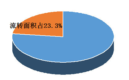 土地流转情况:土地确权后,农民可以放心地流转土地。目前,全省土地流转面积2155.8万亩,占家庭承包面积的23.3%,比2012年提高了近11个百分点