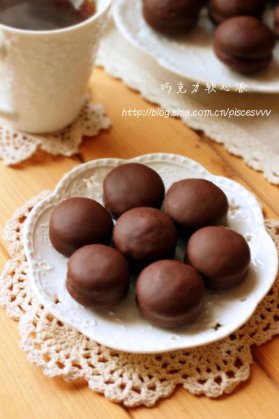 巧克力软心派一口一个的小甜点