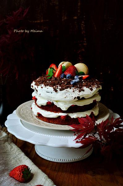 返朴归真的自然美---可可海绵奶油裸蛋糕