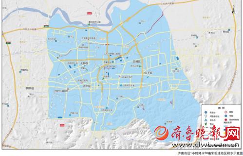 济南市区地图_济南几个区分布图