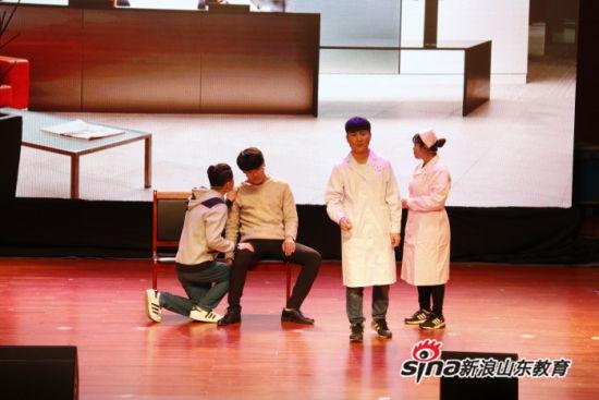 齐鲁理工学院大学生艺术团参加章丘市防治艾滋病专题活动演出