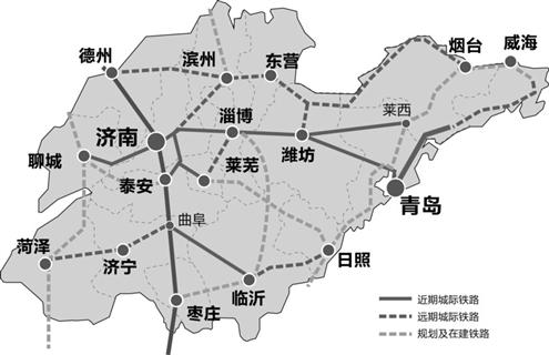 济南青岛泰安地图