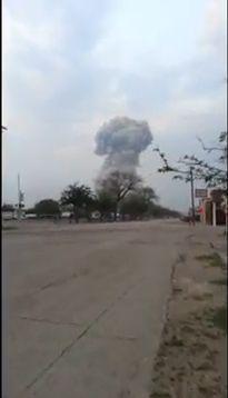 网友实拍美国得州化肥厂爆炸蘑菇云