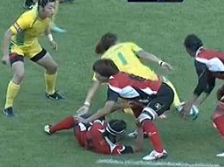 全运女子橄榄球决赛 北京罢赛0-71全场